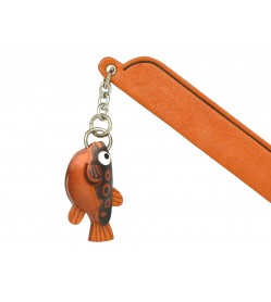 Blowfish Leather Charm Bookmarker