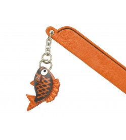 Red Snapper Leather Charm Bookmarker