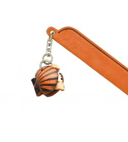 Scallop Leather Charm Bookmarker