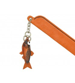 Salmon Leather Charm Bookmarker