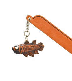 Coelacanth Leather Charm Bookmarker