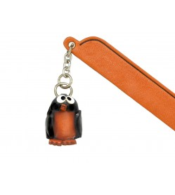 Penguin Leather Charm Bookmarker