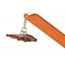 Crocodile Leather Charm Bookmarker