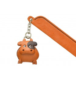 Cow Leather Charm Bookmarker
