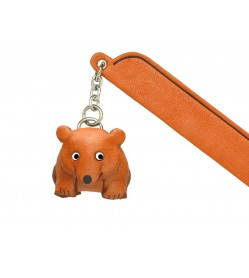 Bear Leather Charm Bookmarker