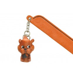 Squirrel Leather Charm Bookmarker