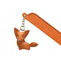 Fox Leather Charm Bookmarker