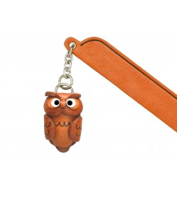 Owl Leather Charm Bookmarker