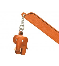 Elephant Leather Charm Bookmarker