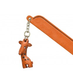 Giraffe Leather Charm Bookmarker