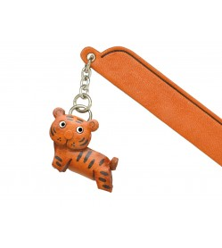 Tiger Leather Charm Bookmarker
