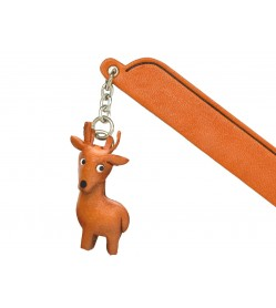 Deer Leather Charm Bookmarker