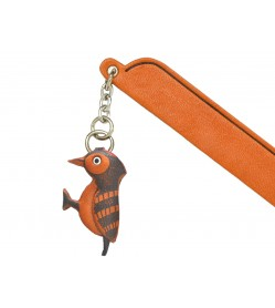 Wood pecker Leather Charm Bookmarker
