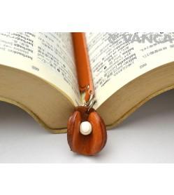 Catcher's mitt Leather Charm Bookmarker