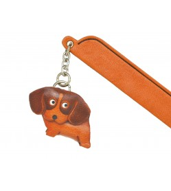 Beagle Leather dog Charm Bookmarker