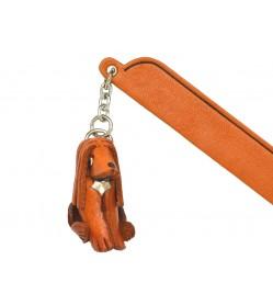Afghan hound Leather dog Charm Bookmarker