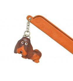 Basset hound Leather dog Charm Bookmarker