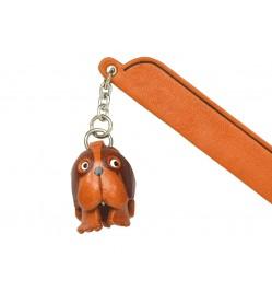 St.Bernard Leather dog Charm Bookmarker