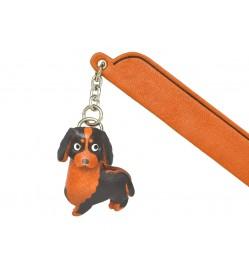 Bernese mountain dog Leather dog Charm Bookmarker
