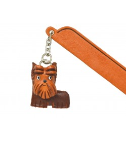 Yorkshire terrier Leather dog Charm Bookmarker