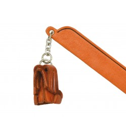 Bearded collie Leather dog Charm Bookmarker