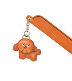 Bichon frise Leather dog Charm Bookmarker