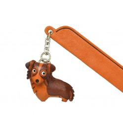 Border collie Leather dog Charm Bookmarker