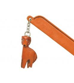 Borzoi Leather dog Charm Bookmarker