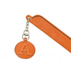 A Leather Alphabet Charm Bookmarker