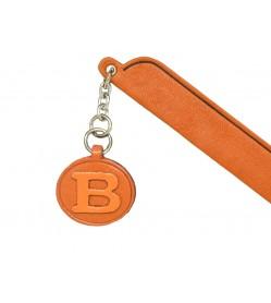 B Leather Alphabet Charm Bookmarker