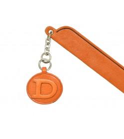 D Leather Alphabet Charm Bookmarker