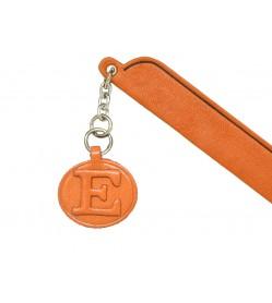 E Leather Alphabet Charm Bookmarker