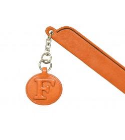 F Leather Alphabet Charm Bookmarker