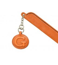 G Leather Alphabet Charm Bookmarker