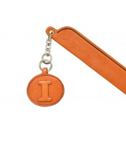 I Leather Alphabet Charm Bookmarker