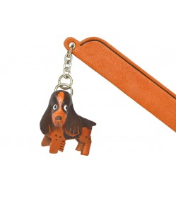 English springer Leather dog Charm Bookmarker