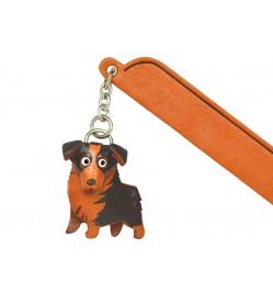 Australian shepherd Leather dog Charm Bookmarker