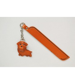 Norfolk terrier Leather dog Charm Bookmarker