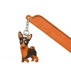 Basenji Leather dog Charm Bookmarker