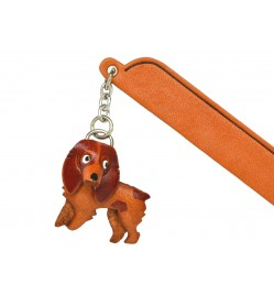 Brittany Leather dog Charm Bookmarker