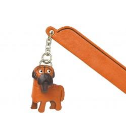 Mastiff Leather dog Charm Bookmarker