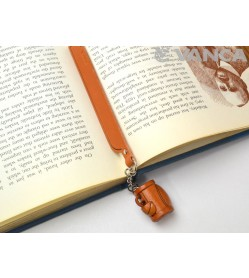 Golf bag Leather Charm Bookmarker