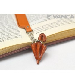 Umbrella Leather Charm Bookmarker