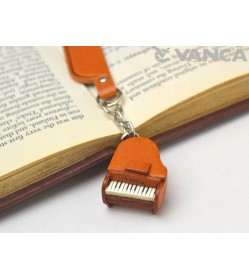Piano Leather Charm Bookmarker
