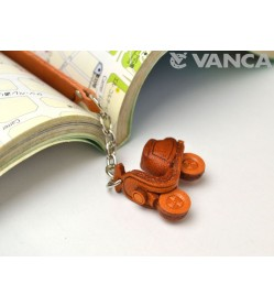 Scooter Leather Charm Bookmarker