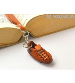 Soccer shoe Leather Charm Bookmarker