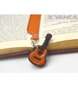 Guitar Leather Charm Bookmarker