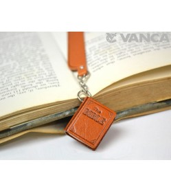 The Bible Leather Charm Bookmarker