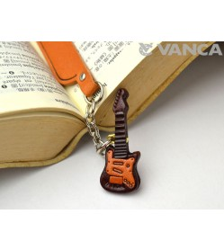 Electric guitar Leather Charm Bookmarker