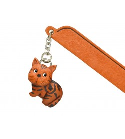 American shorthair Leather Charm Bookmarker